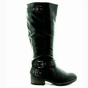 🆕⭐ Black riding Buckle boots⭐